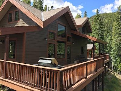 Mt. Evans Cabin with 150 acres, stream, amazing views, skiing, a true getaway
