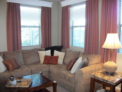 Comfy Sectional Sofa in the Living Area