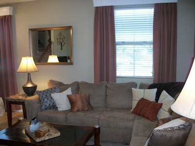 Another View - living area. We've provided books, DVDs & games for our guests