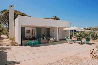San Vito lo Capo Sicily Holiday Rental Villa Canneto Beach Front Terrace