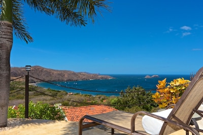 View of Hermosa Bay, from the villa's outdoor terrace beside pool