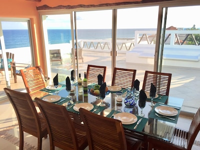 Dining with a view and Spacious private terrace for sunbathing