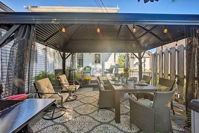 This 2-bedroom, 2-bathroom vacation rental house sleeps 10.