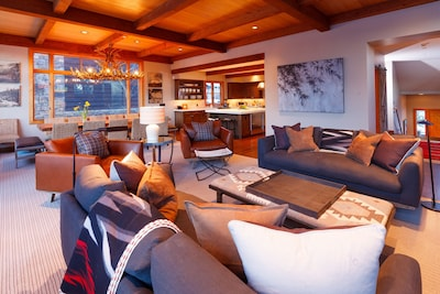 Relax in the ultra comfy living area after the day's adventures.