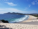View from dunes to cape hawke