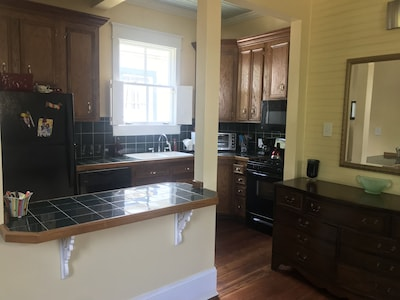 Full kitchen with full size appliances.
