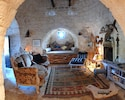 Original trullo room: doubles up as sitting room and sleeping area.