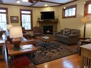 Cozy seating for everyone, gas fireplace, 55' television/DVD/cable, wifi