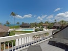 Deck overlooking Gulf of Mexico and pool
