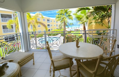 Condo's Oversized Beach View Balcony! Front unit of 2nd building for privacy