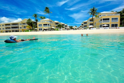 Condo's Beach & Complex  seen frm the Crystl Clear Sea! In Center of 7 Mile Bch!