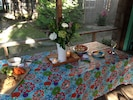 Enjoy snacks on our large screened porch