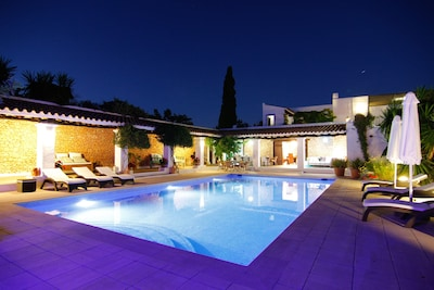 Villa Can Valls. Ibiza. Belle ambiance nocturne