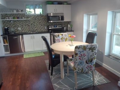 Large eat in kitchen, fully furnished