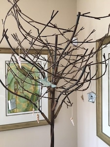 Wire Tree in Living Room