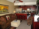 Living Room and kitchen, breakfast bar,  Flat Screen TV, Stereo