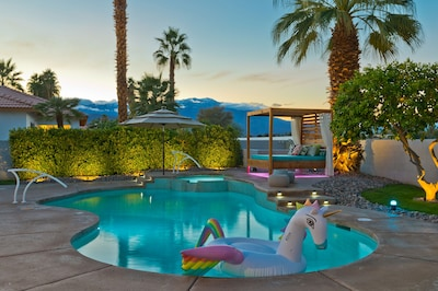 Relax poolside.