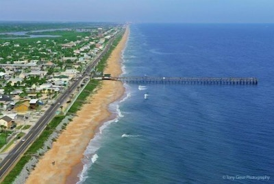 Our shore line, we are 1 mile north of pier. It is a great walk