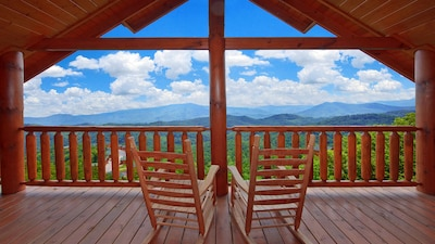 Stunning deck view off the Master Bedrooms own private deck