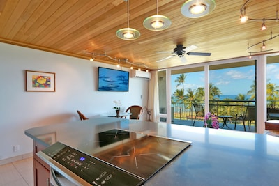 View with induction cooktop / quiet AC