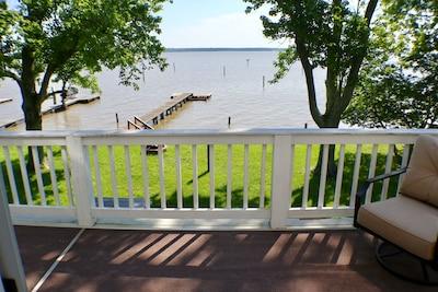 Stunning Rappahannock River views from the balcony