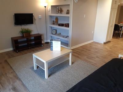 Comfy TV room.