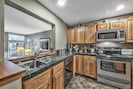 Updated kitchen w/stainless steel appliances and granite counter tops