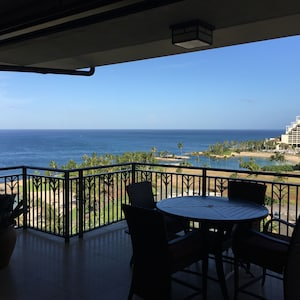 The lanai is a great place to share meals or relax. Great view and very private.