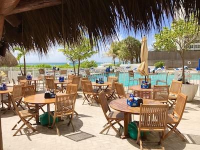 Tikibar restaurant at beach