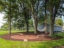 fire pit / hammock area