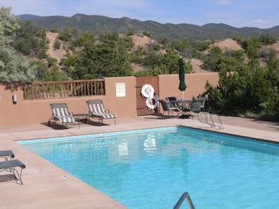 Pueblo Encantado pool just around the corner
