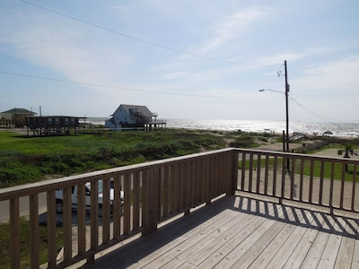 Unobstructed beach view from the deck