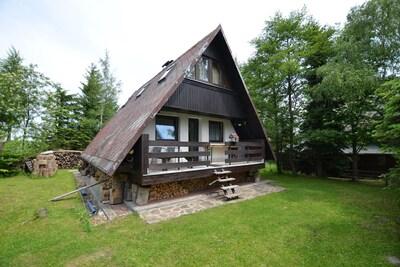 Skiareál Klínovec sever, Jachymov, Karlovy Vary (region), Czech Republic