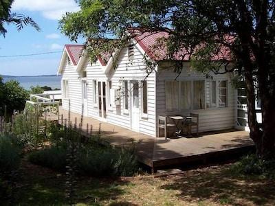 Captain Lock's Cottage overlooking Westernport Bay.
