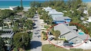 124 50th AMI Beach House Florida, aerial view very near to Anna Maria Beach