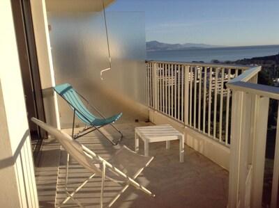 Terrasse devant la chambre