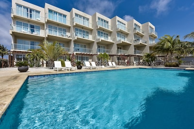 Beautiful apartment complex, only 12 apartments total, has a private pool