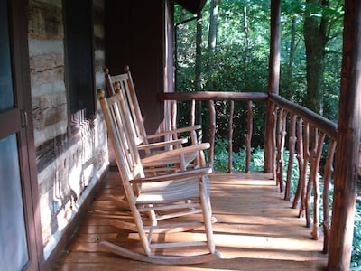 View of Front Porch with Rocking Chairs