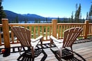 Enjoy Lake/Mountain views on Large Deck. Table chairs for 6 + 4 adirondack chair