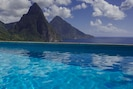 while swimming, view the Pitons
