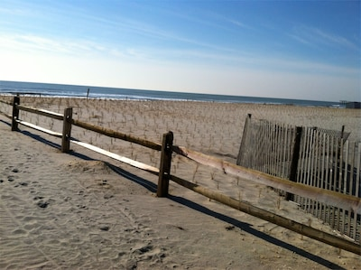 Short walk way down to the sandy beach