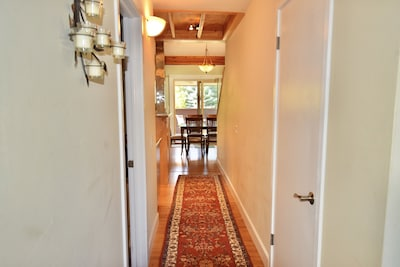 Entry hallway, we have one bedroom downstairs and another upstairs for privacy