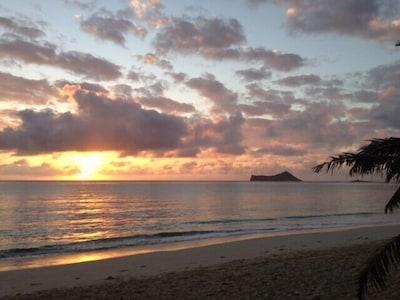 Sunrise on the Windward side,