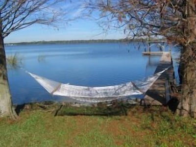 Enjoy lying in the hammock and listening to the shore birds.