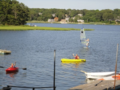 Lots of toys available for wind surfing and boating!