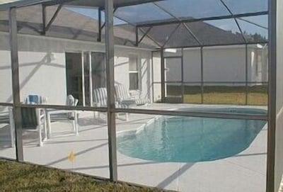 Soiuth Facing Pool with furniture