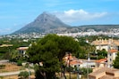 Views out to Montgo Mountain from our apartment
