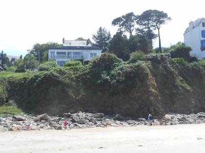 vue de la plage du Ris