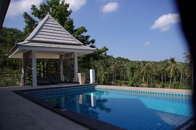 piscine  appt du haut