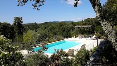 la piscine privée dans son cadre